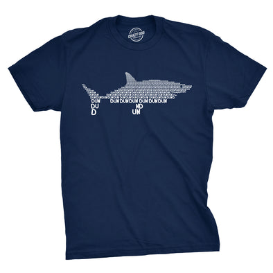 Dun Dun Dun Graphic Shark Text Men's Tshirt