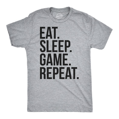 Eat Sleep Game Repeat Men's Tshirt