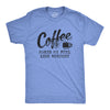 Coffee Makes Me Feel Less Murdery Men's Tshirt