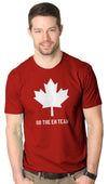 Mens On The Eh Team Canada T Shirt Funny Patriotic Novelty Sarcasm?Tee For Guys
