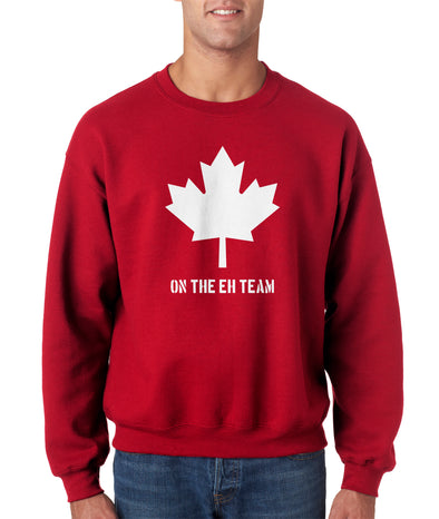 Eh Team Canada Sweater Funny Canadian Shirts Novelty Hilarious Crew Neck