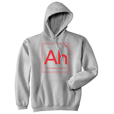 Ah The Element Of Surprise Sweatshirt Funny Periodic Table Hoodie