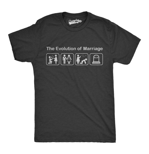 Evolution of Marriage Men's Tshirt