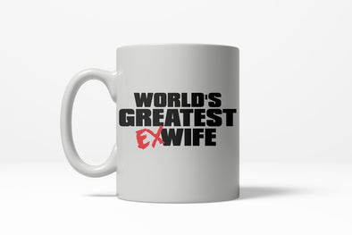 Worlds Greatest Ex Wife Funny Wedding Valentines Day Ceramic Coffee Drinking Mug 11oz Cup