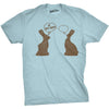Mens Faceless Chocolate Bunny Funny Half Eaten Easter Gift Adult Gift T Shirt