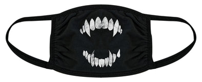 Vampire Teeth Face Mask Funny Halloween Fangs Novelty Graphic Nose And Mouth Covering