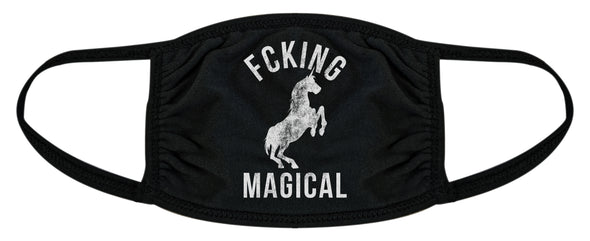F'cking Magical Face Mask Funny Mystical Unicorn Graphic Nose And Mouth Covering