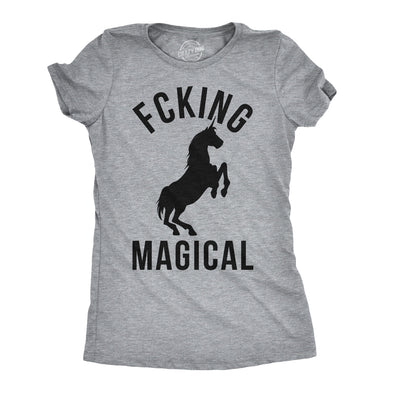 Womens Magical Funny T shirt Unicorn Vintage Tee Cool Cute 90s Novelty T shirt