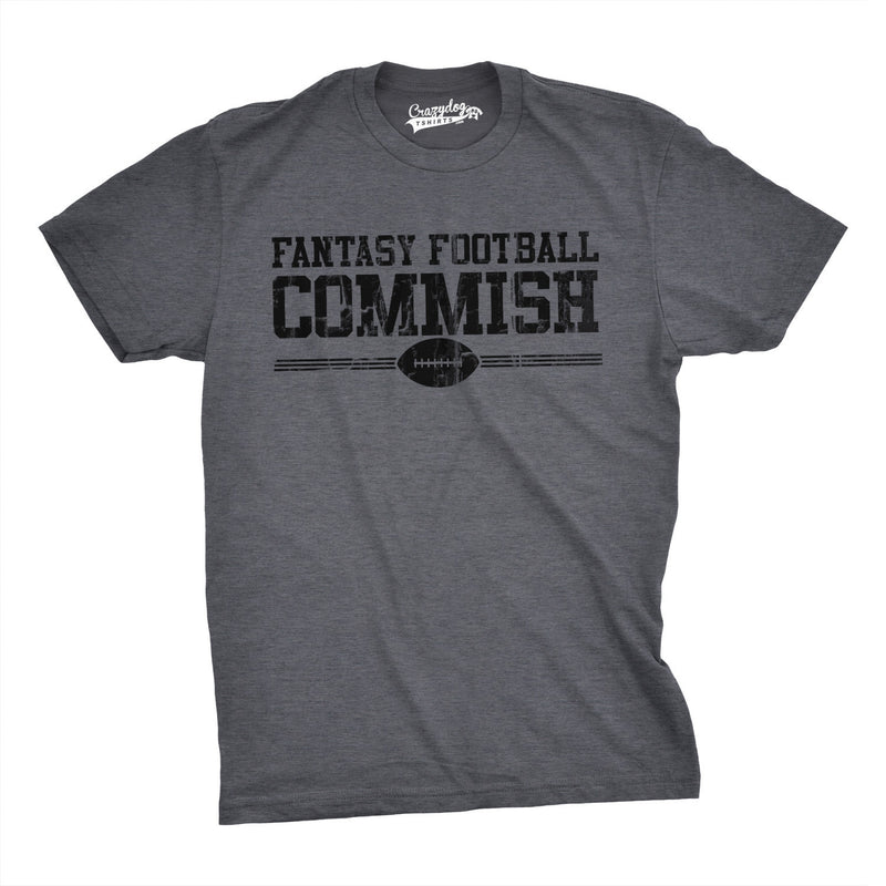 Mens  Fantasy Football Commish T Shirt Funny Sports Shirt Football Tee