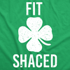 Mens Fit Shaced Funny St. Patrick's Day Irish Drinking Beer T shirt
