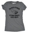 Womens Fitness Burrito Funny Gym T shirts Sarcasm Mens Humorous T shirt Novelty Tees