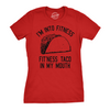 Womens Fitness Taco Funny Gym T Shirt Cool Humor Graphic Muscle Tee For Ladies