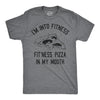 Fitness Pizza In My Mouth Men's Tshirt