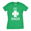 Womens Fit Shaced Funny Irish Clover Shamrock Saint Patricks Day Lucky T Shirt
