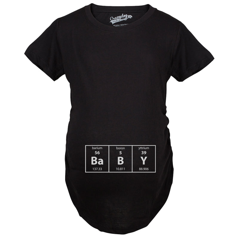Maternity Baby Element Funny T shirts Nerdy Science Tees Im Pregnant Cheap Pregnancy T shirt
