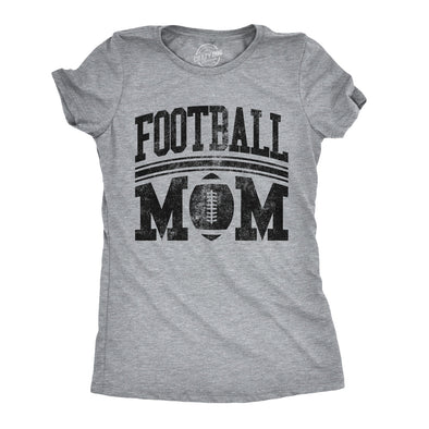 Womens Football Mom Tshirt Cute Sports Parent Tee For Ladies