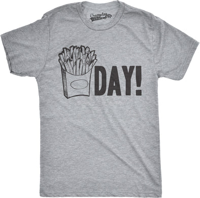 Mens Fry Day Friday T shirt Funny Fast Food French Fry Weekend TGIF Tee