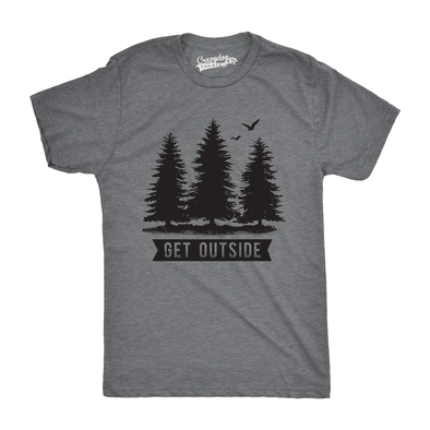 Pine Trees Get Outside Men's Tshirt