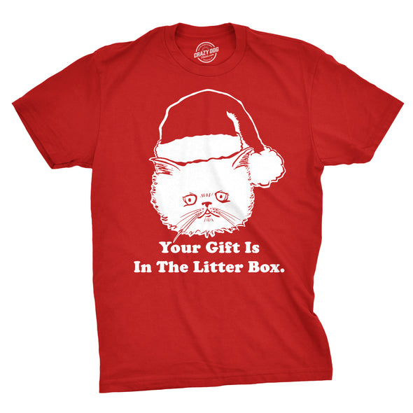 Gift Is In The Litter Box Men's Tshirt