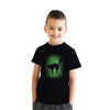 Youth Glow In The Dark Cat T Shirt Cool Halloween Scary Cute Tee For Kids