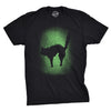 Mens Glowing Cat Tshirt Glow In The Dark Cool Halloween Pet Lover Tee