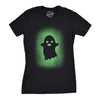 Womens Glowing Ghost T Shirt Glow In The Dark Cool Halloween Party Tee