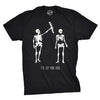 Mens Got Your Back Funny Halloween Skeleton Best Friend T shirt