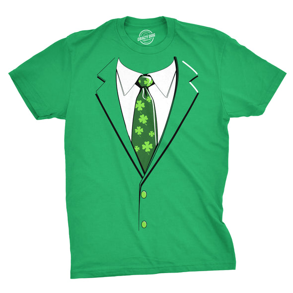 Green Irish Tuxedo Men's Tshirt
