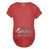Maternity Guess What Santas Bringing Holiday Funny Christmas Pregnancy T shirt