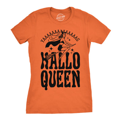 Womens HalloQueen Shirt Funny Halloween Queen Tee for Ladies Cute Costume T shirt