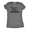 Womens Happiness Is Being a Grandma T shirt Funny Cute Nana Grandmother Gift