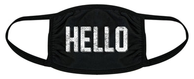 Hello Face Mask Funny Greeting Hi Social Distancing Novelty Nose And Mouth Covering