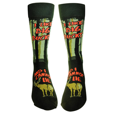 I Like Big Bucks And I Cannot Lie Socks