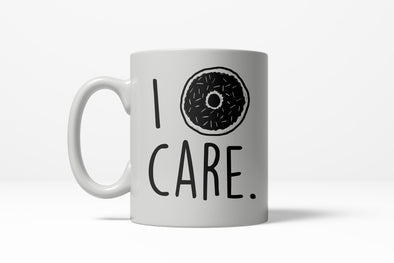 I Donut Care Funny Breafkast Doughnut Sprinkle Ceramic Coffee Drinking Mug 11oz Cup