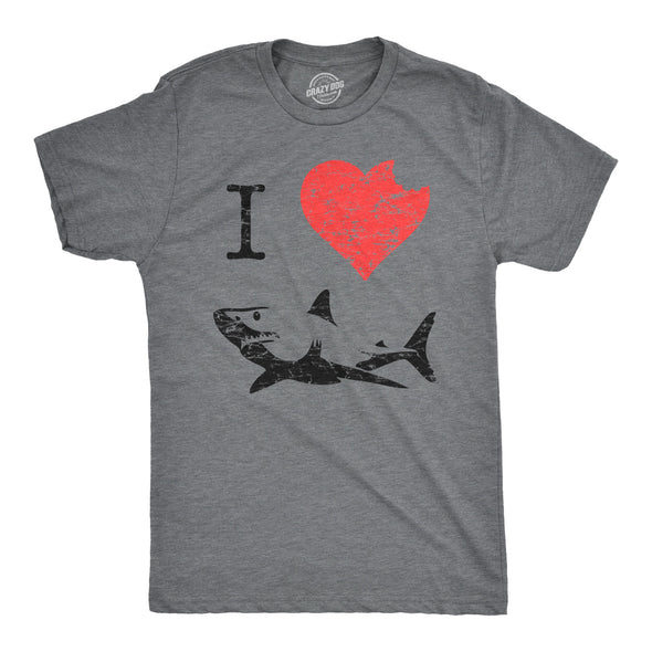I Love Sharks Men's Tshirt