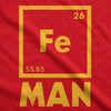 Unisex Iron Man Hoodie Funny Geeky Nerdy Graphic Periodic Table Sweatshirt