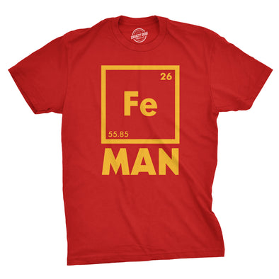 Mens Iron Man Science T Shirt Cool Novelty Funny Nerdy Graphic Print Tee Guys