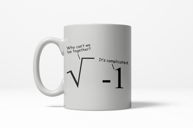 Its Complicated Math Problem Funny Dating Ceramic Coffee Drinking Mug 11oz Cup