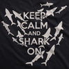 Keep Calm And Shark On Men's Tshirt