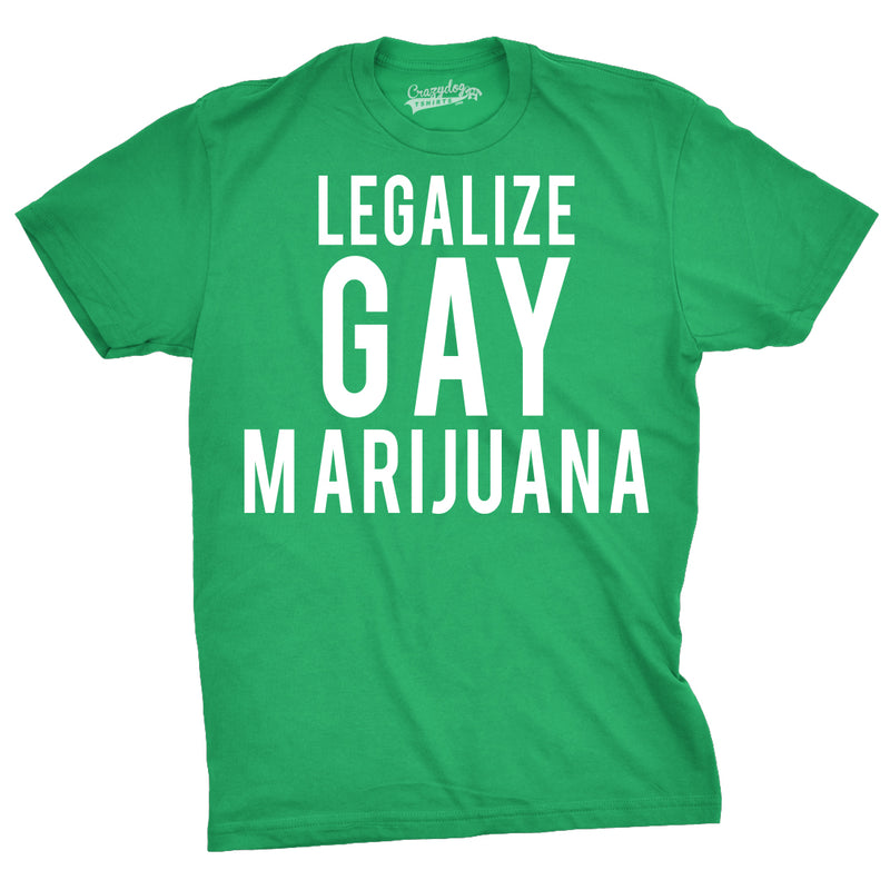 Mens Legalize Gay Marijuana Hilarious Plant Marriage Wedding T shirt