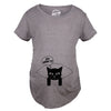 Womens Let MeowT Maternity TShirt Funny Cat Lady Pet Lover Pregnancy Tee