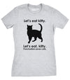 Women's Let's Eat Kitty T Shirt Funny Punctuation Shirt Cat Tee For Women