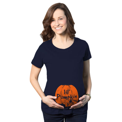 Maternity Lil Pumpkin Pie Pregnancy Tshirt Cute Thanksgiving Tee For Mom To Be
