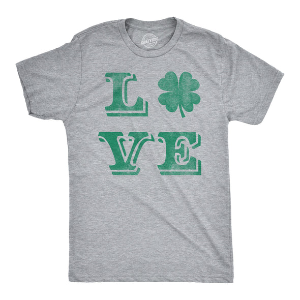 LOVE Lucky Clover Men's Tshirt