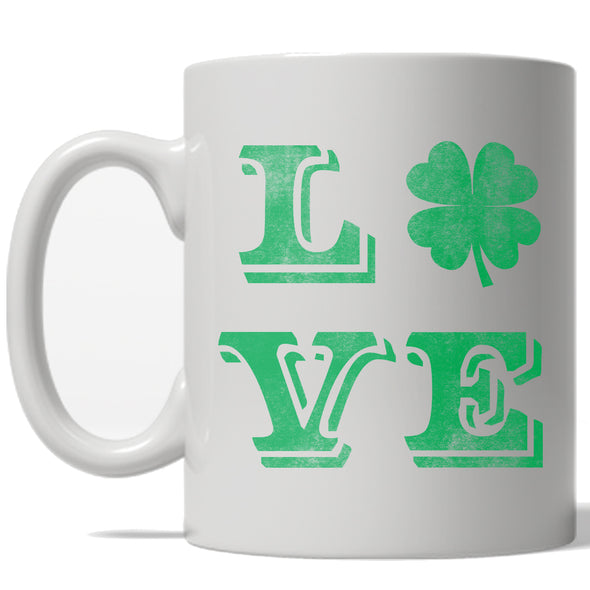 Clover Love Mug Cool St Patricks Day Shamrock Coffee Cup - 11oz