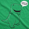 Women's I Love You This Much T-Rex T Shirt Funny Trex Dinosaur Tee Dino Tee