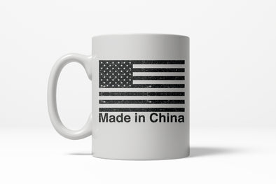 Made In China Funny American Flag USA Pride Ceramic Coffee Drinking Mug - 11oz