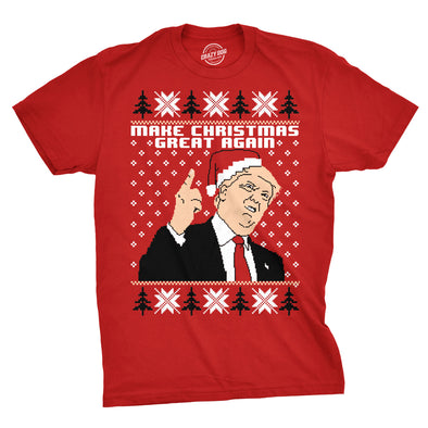 Make Christmas Great Again Ugly Christmas Sweater Men's Tshirt