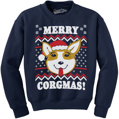 Merry Corgmas Ugly Christmas Sweater Dog Dad Lover Hilarious Funny Sweatshirt