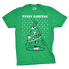 Merry Barkmas Dog Christmas Tree Men's Tshirt